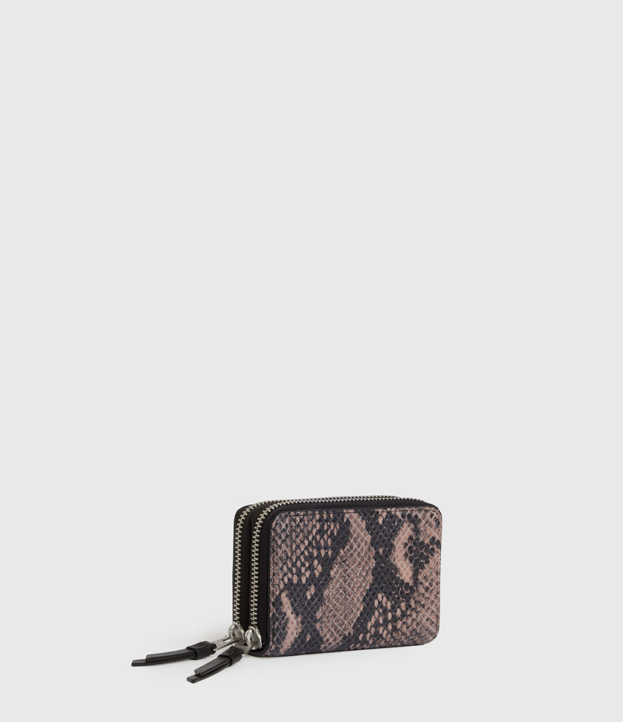 Women's Nantes Leather Cardholder (snake_pink) - Image 3