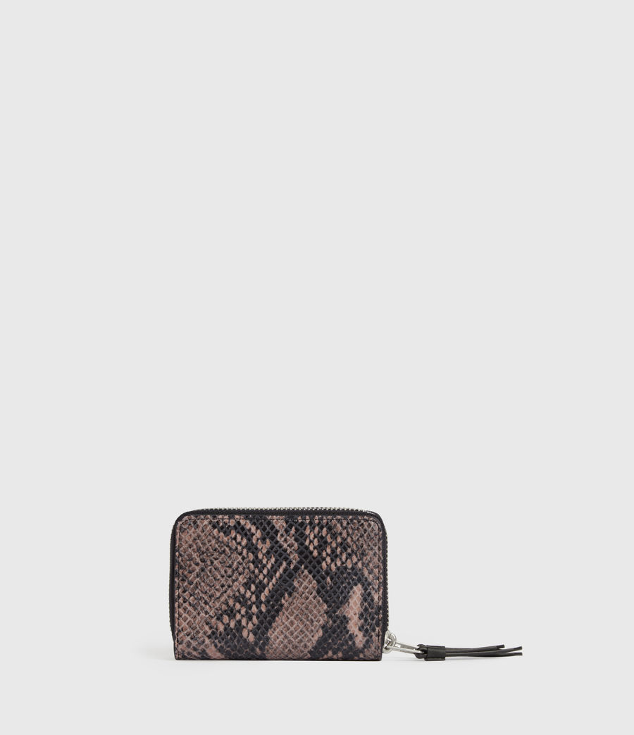 Women's Nantes Leather Cardholder (snake_pink) - Image 5