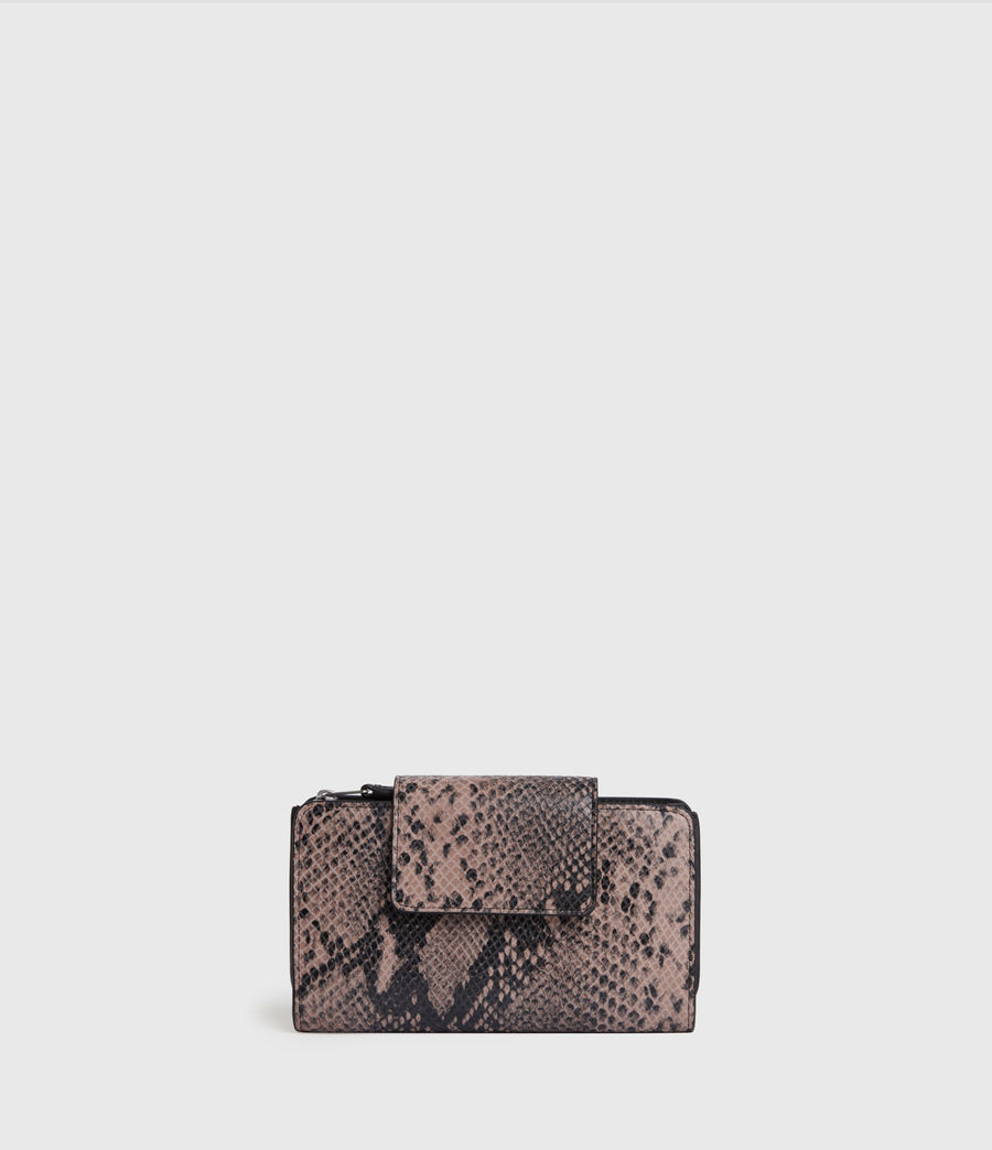 Women's Daubeney Leather Wallet (snake_pink) - Image 1
