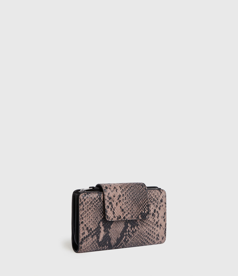 Womens Daubeney Leather Wallet (snake_pink) - Image 3