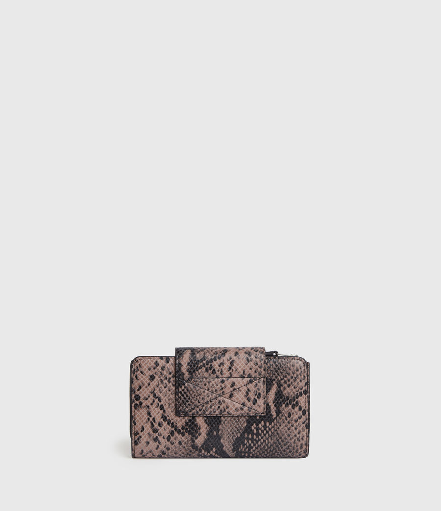 Womens Daubeney Leather Wallet (snake_pink) - Image 5