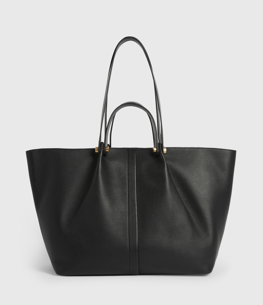 Women's Allington Leather East West Tote Bag (black) - Image 1
