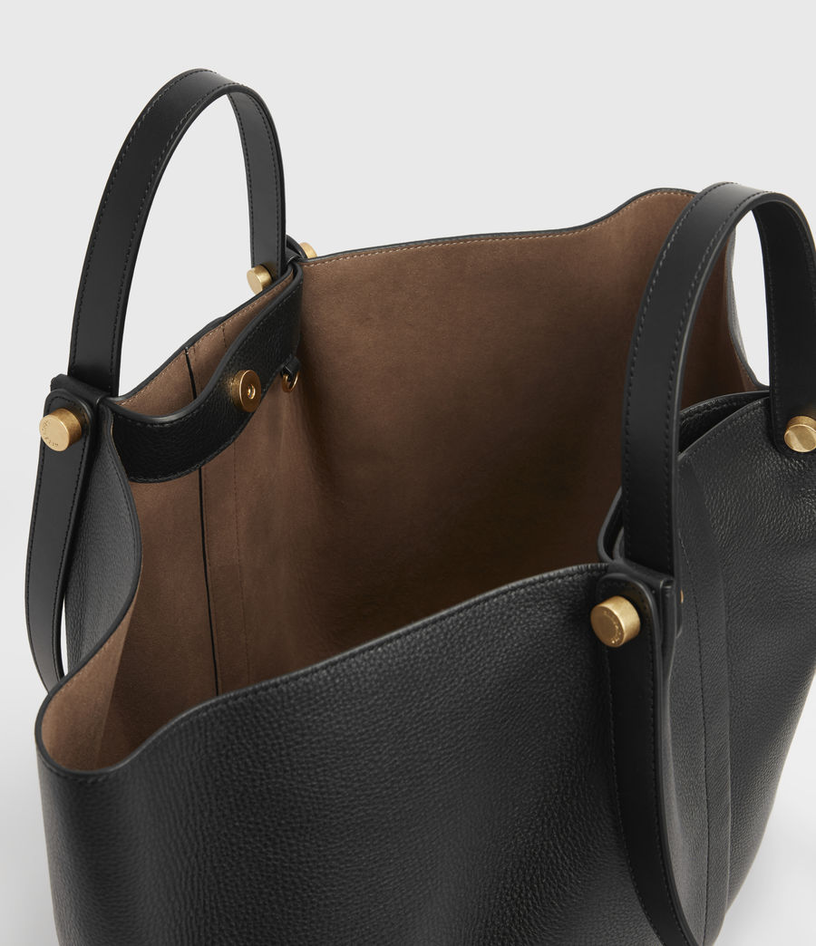 Women's Allington Leather East West Tote Bag (black) - Image 3