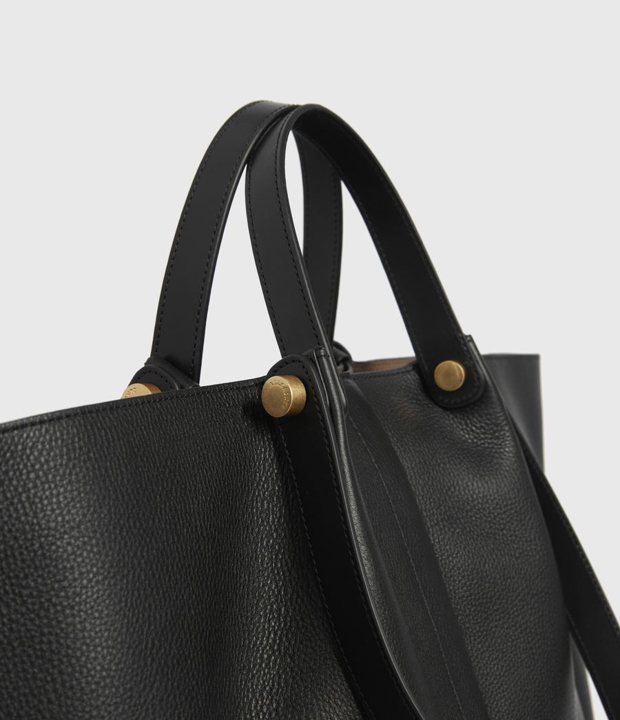 Women's Allington Leather East West Tote Bag (black) - Image 4