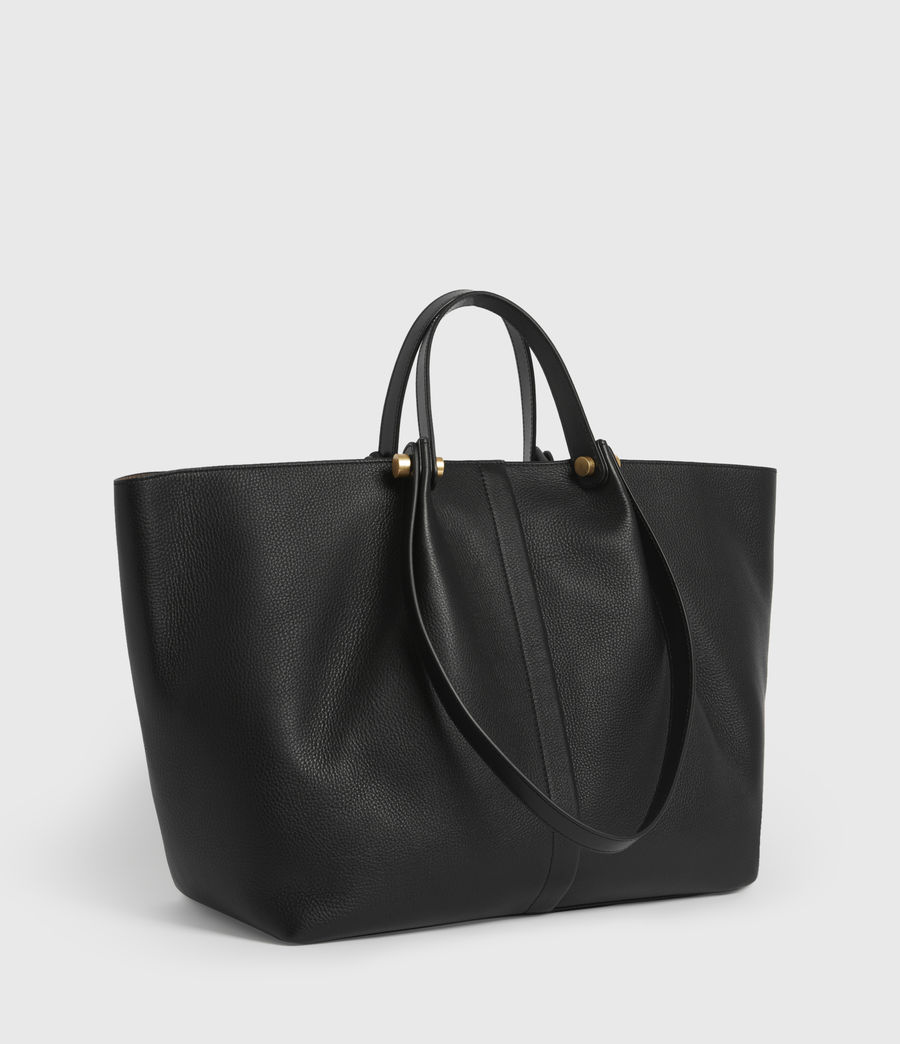Women's Allington Leather East West Tote Bag (black) - Image 5