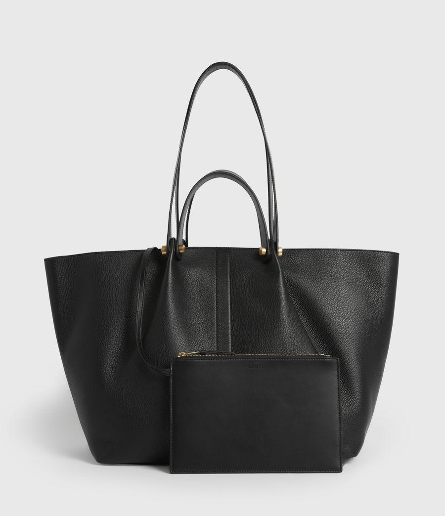Women's Allington Leather East West Tote Bag (black) - Image 7
