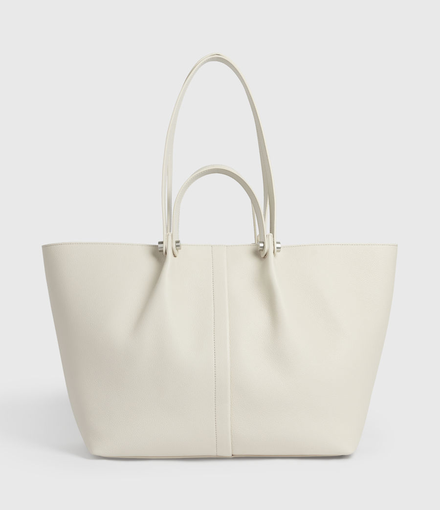Damen Allington Leather East West Tote Bag (chalk) - Image 1