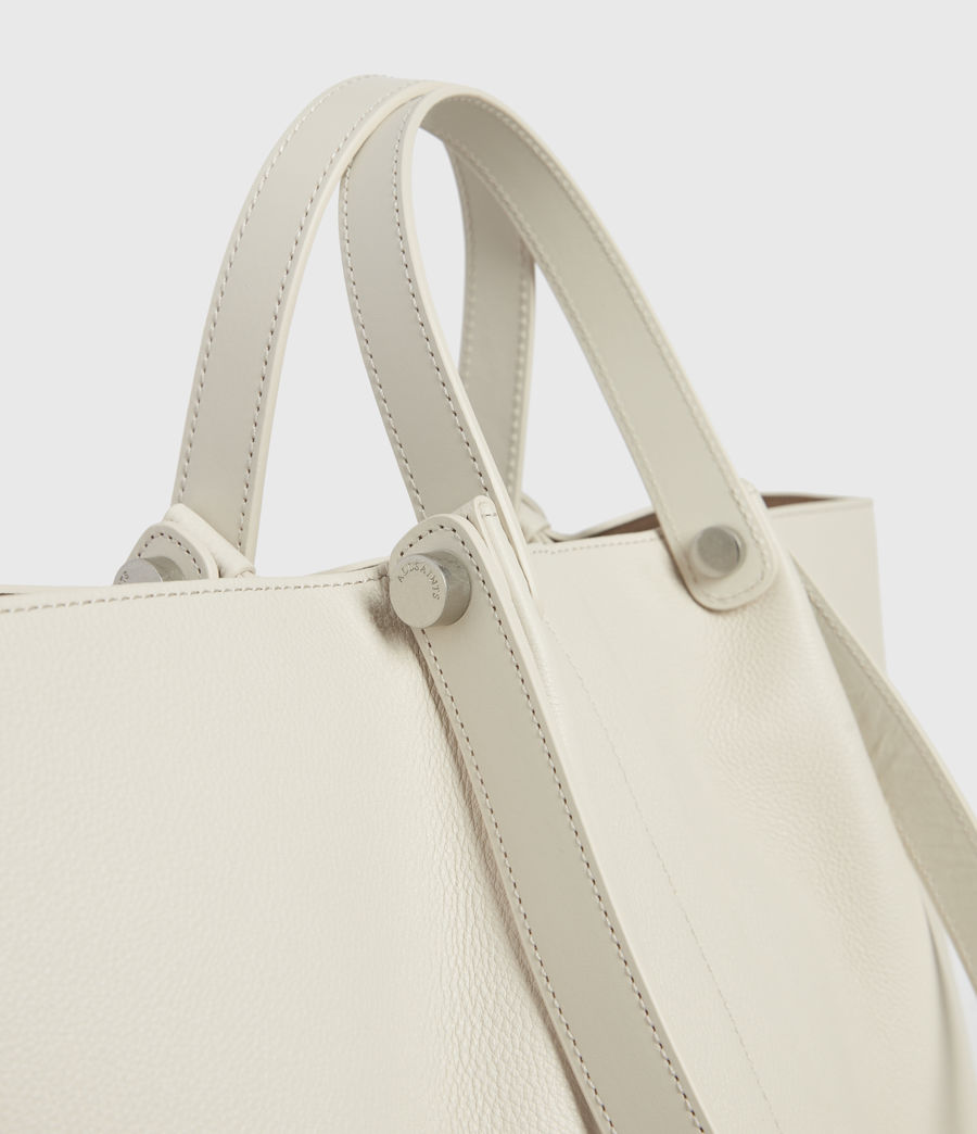 Damen Allington Leather East West Tote Bag (chalk) - Image 3