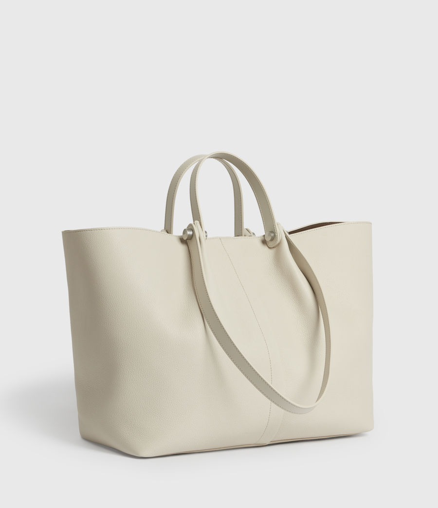 Damen Allington Leather East West Tote Bag (chalk) - Image 4