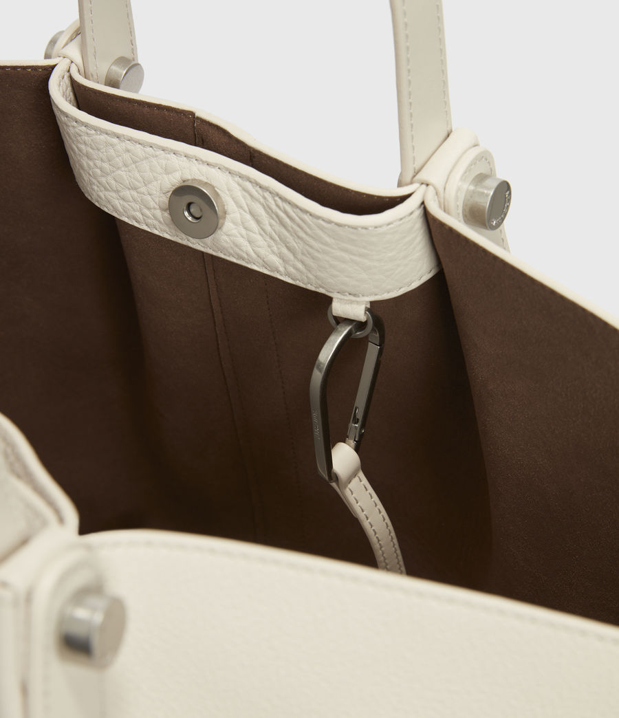 Damen Allington Leather East West Tote Bag (chalk) - Image 5