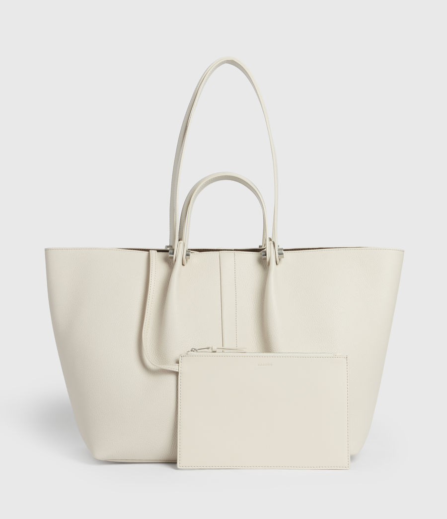 Damen Allington Leather East West Tote Bag (chalk) - Image 6