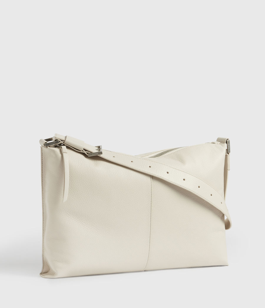 Women's Edbury Leather Shoulder Bag (chalk) - Image 3