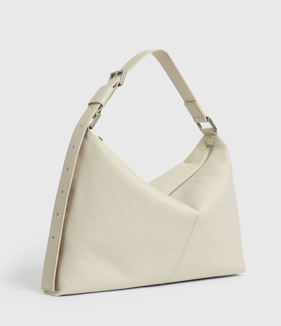 Women's Edbury Leather Shoulder Bag (chalk) - Image 4