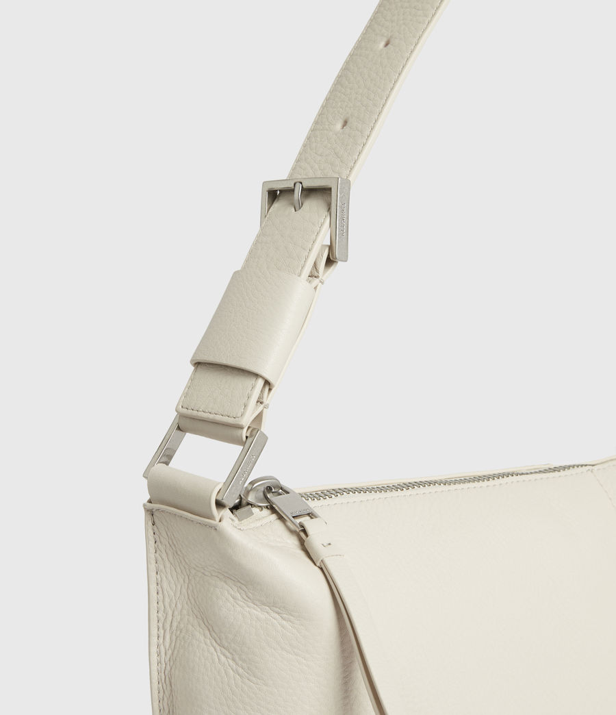 Women's Edbury Leather Shoulder Bag (chalk) - Image 5