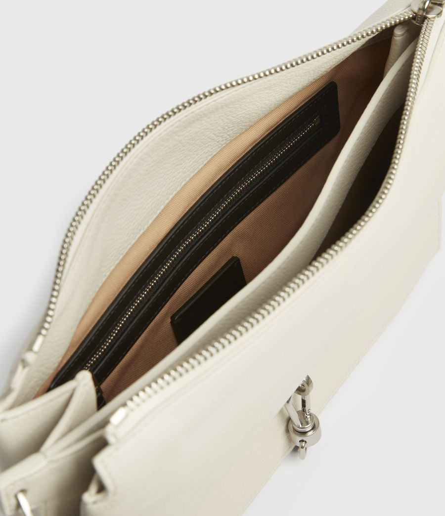 Women's Sheringham Leather Shoulder Bag (chalk_white) - Image 2