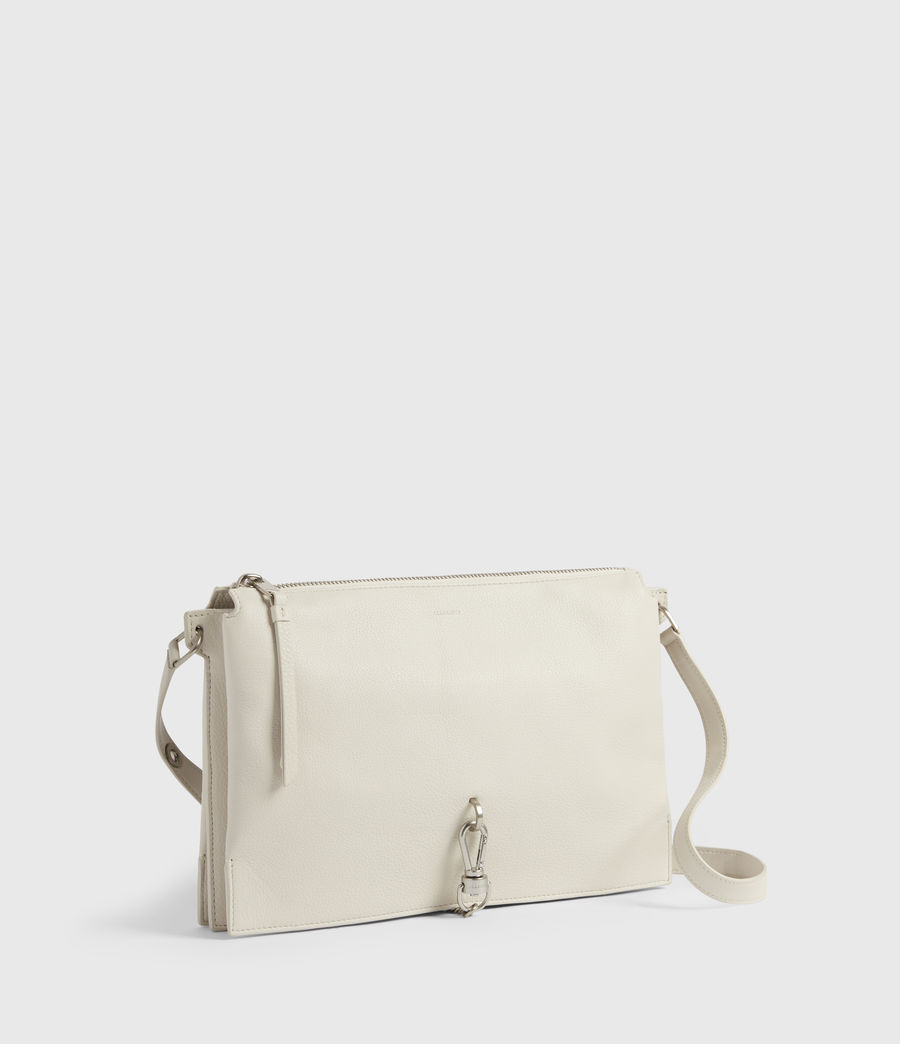 Women's Sheringham Leather Shoulder Bag (chalk_white) - Image 3