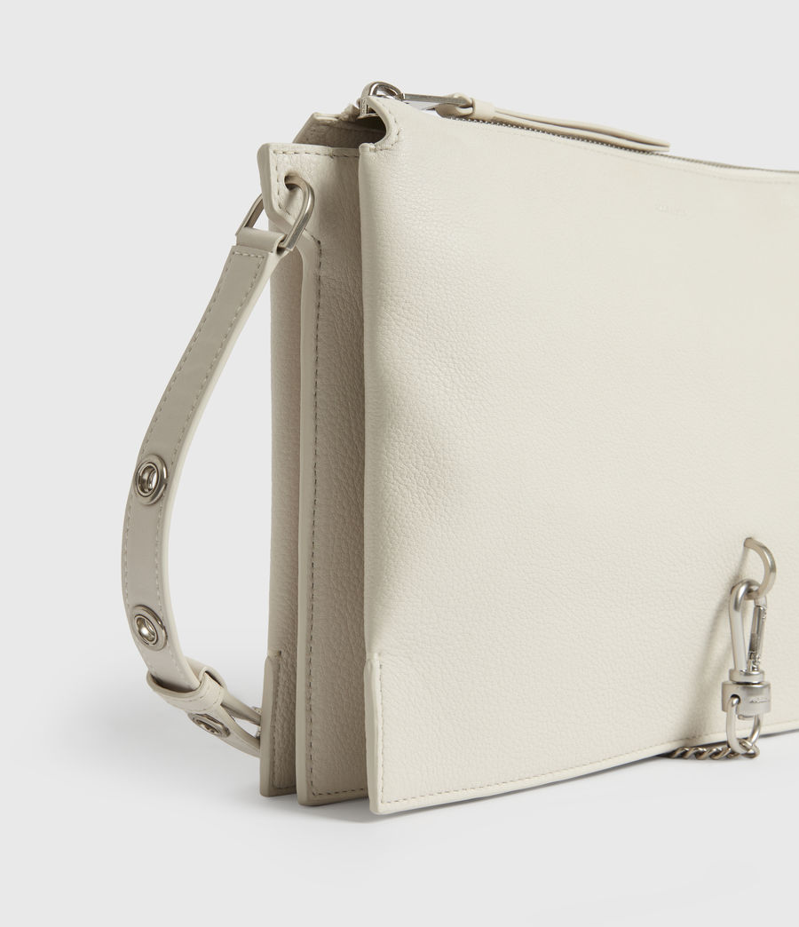 Women's Sheringham Leather Shoulder Bag (chalk_white) - Image 5