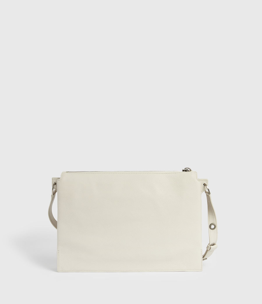 Women's Sheringham Leather Shoulder Bag (chalk_white) - Image 6