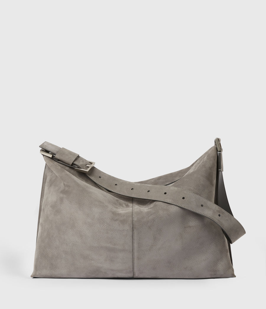 Donne Edbury Nubuck Shoulder Bag (mist_grey) - Image 2