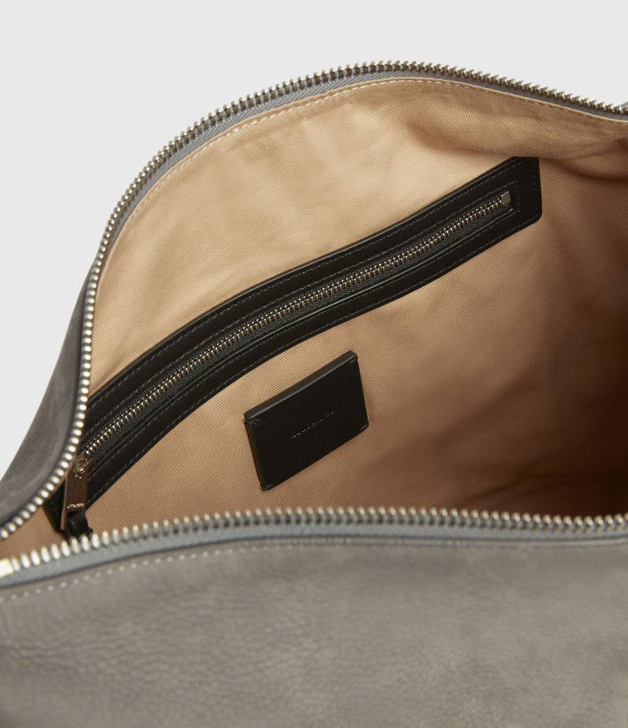 Donne Edbury Nubuck Shoulder Bag (mist_grey) - Image 3
