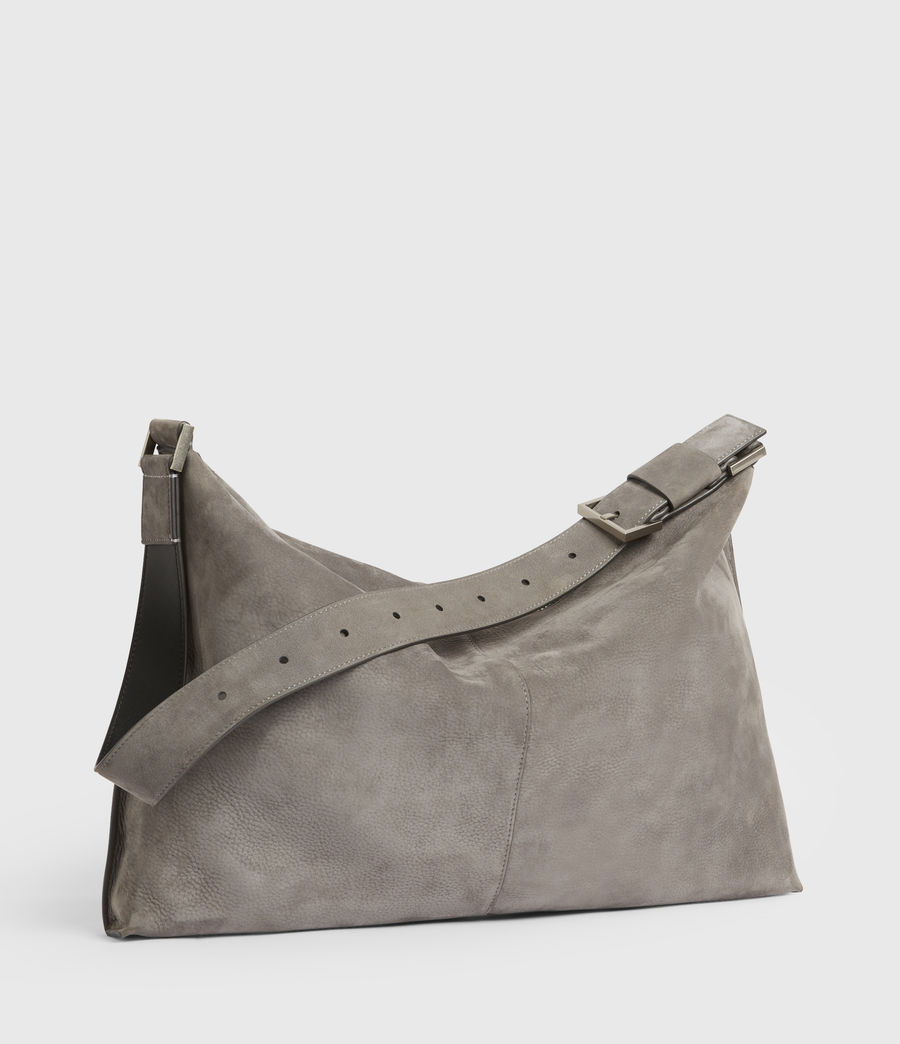 Donne Edbury Nubuck Shoulder Bag (mist_grey) - Image 4