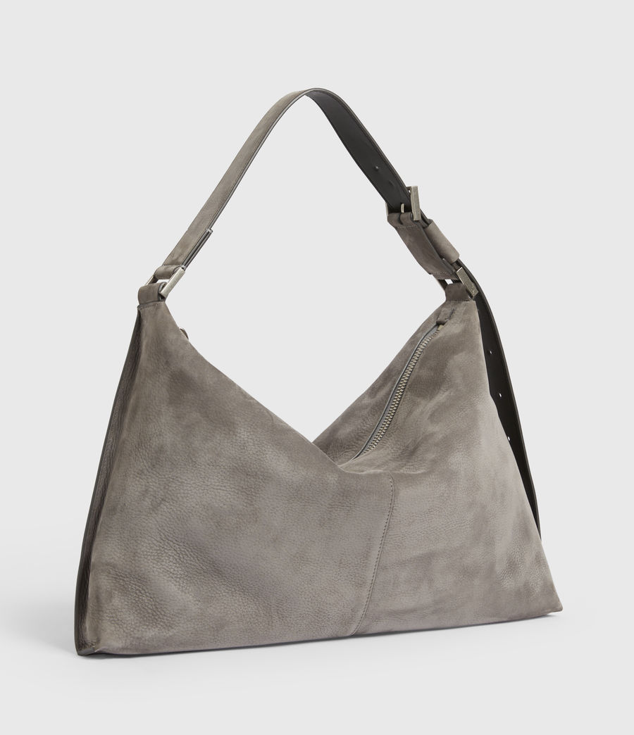 Donne Edbury Nubuck Shoulder Bag (mist_grey) - Image 5