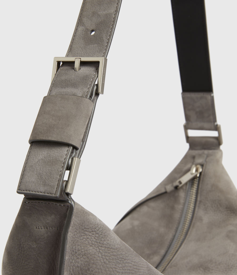 Donne Edbury Nubuck Shoulder Bag (mist_grey) - Image 6