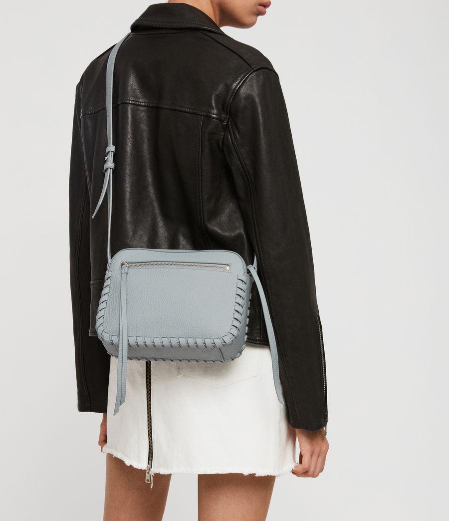 Womens Kepi Leather Crossbody Bag (denim_blue) - Image 2