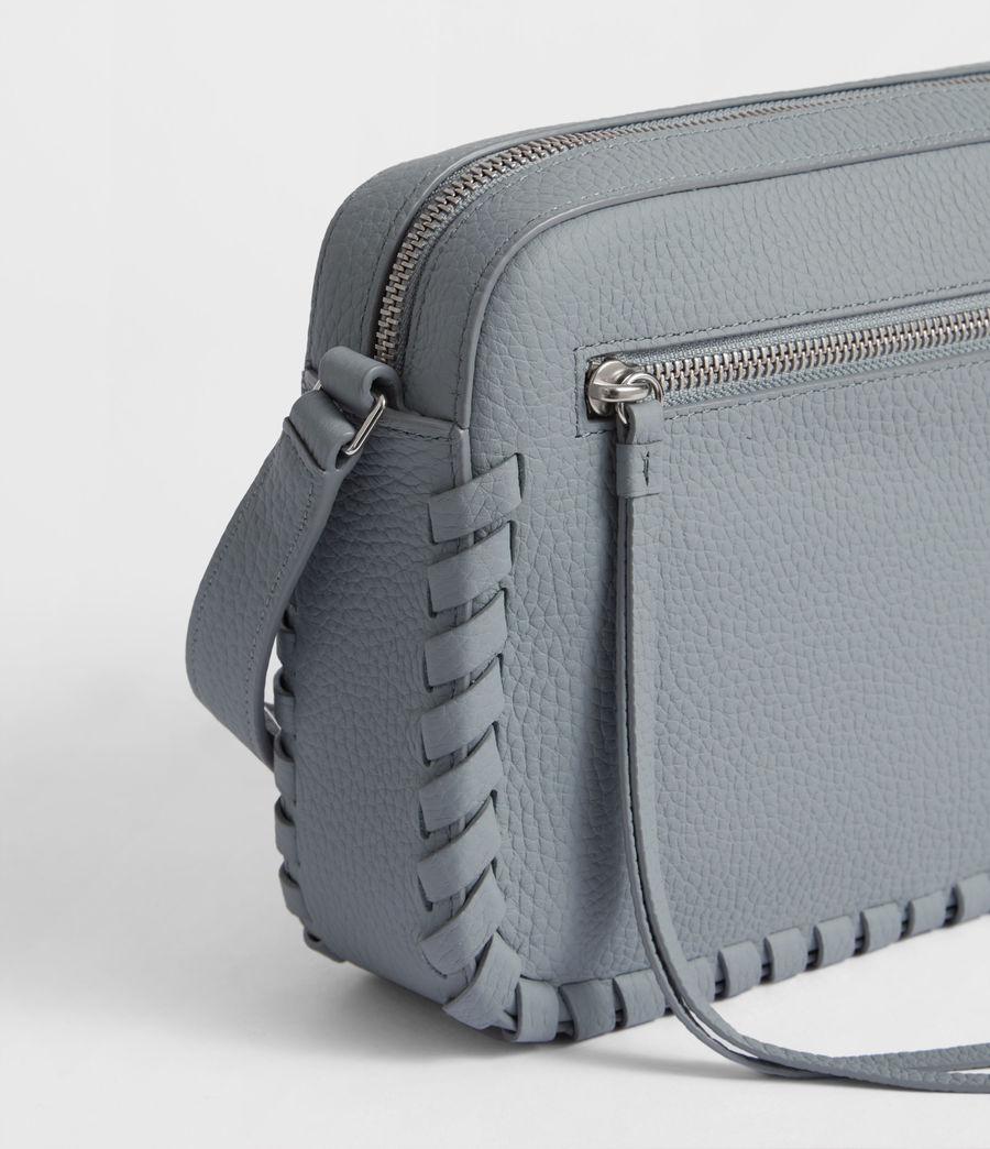 Womens Kepi Leather Crossbody Bag (denim_blue) - Image 6