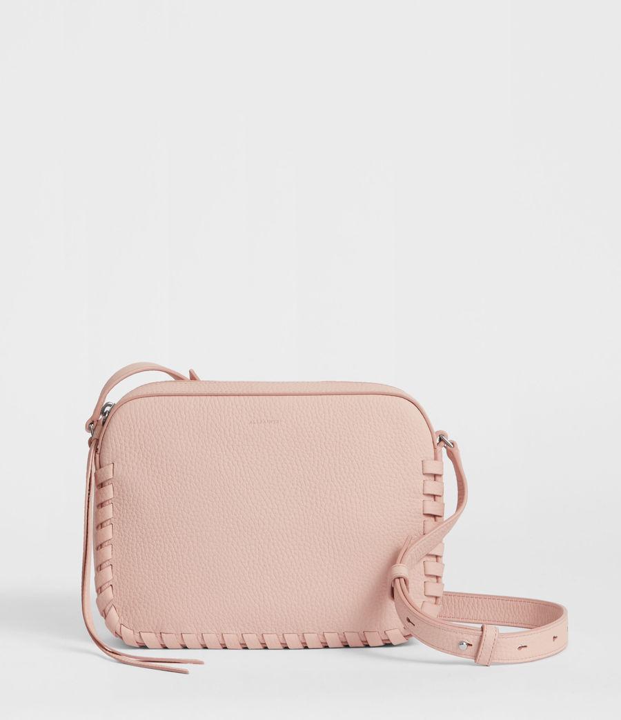 Women's Kepi Leather Crossbody Bag (peach_pink) - Image 1