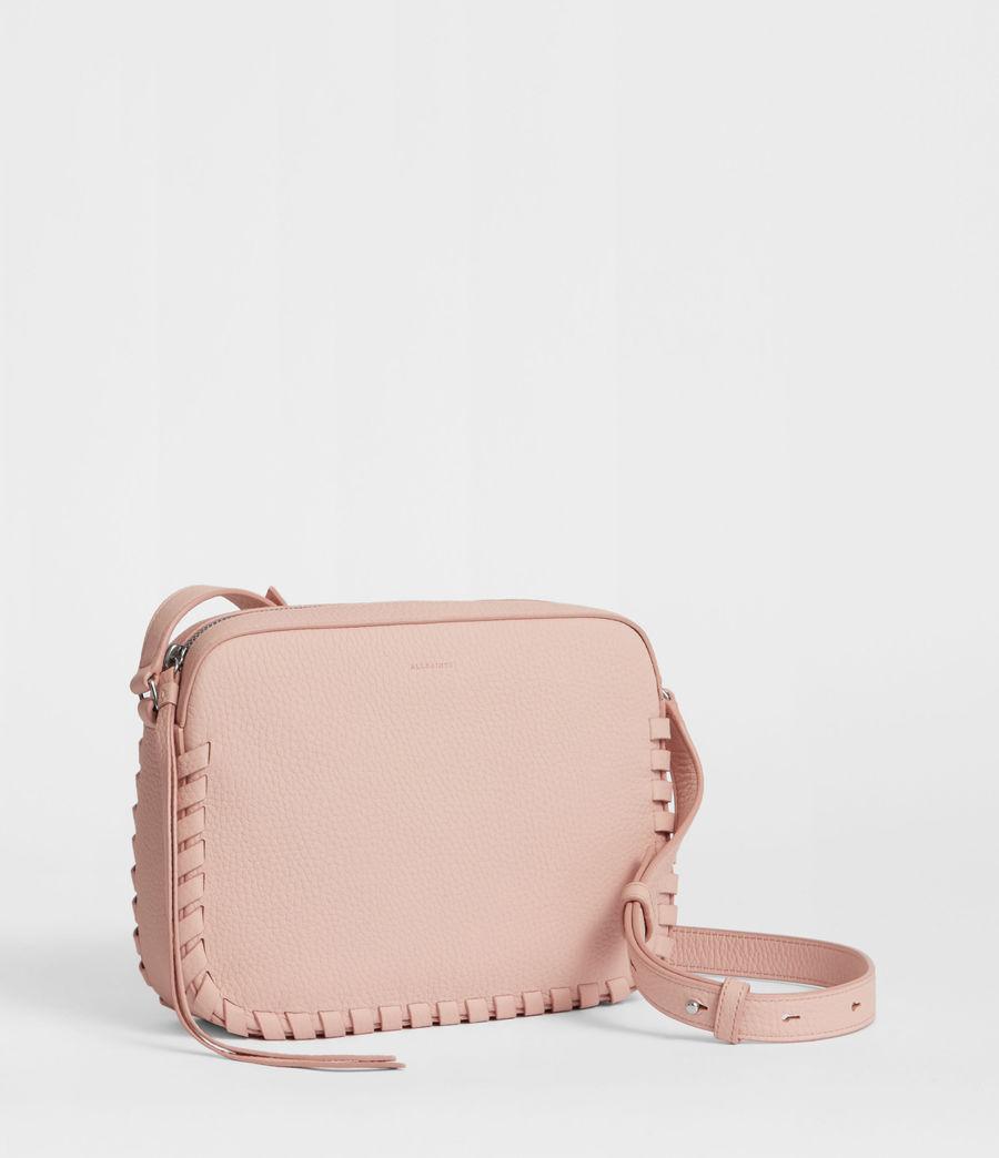 Women's Kepi Leather Crossbody Bag (peach_pink) - Image 2