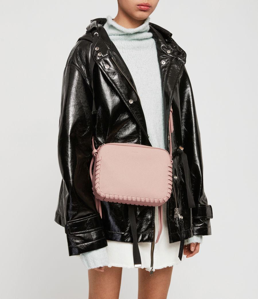 Women's Kepi Leather Crossbody Bag (peach_pink) - Image 3
