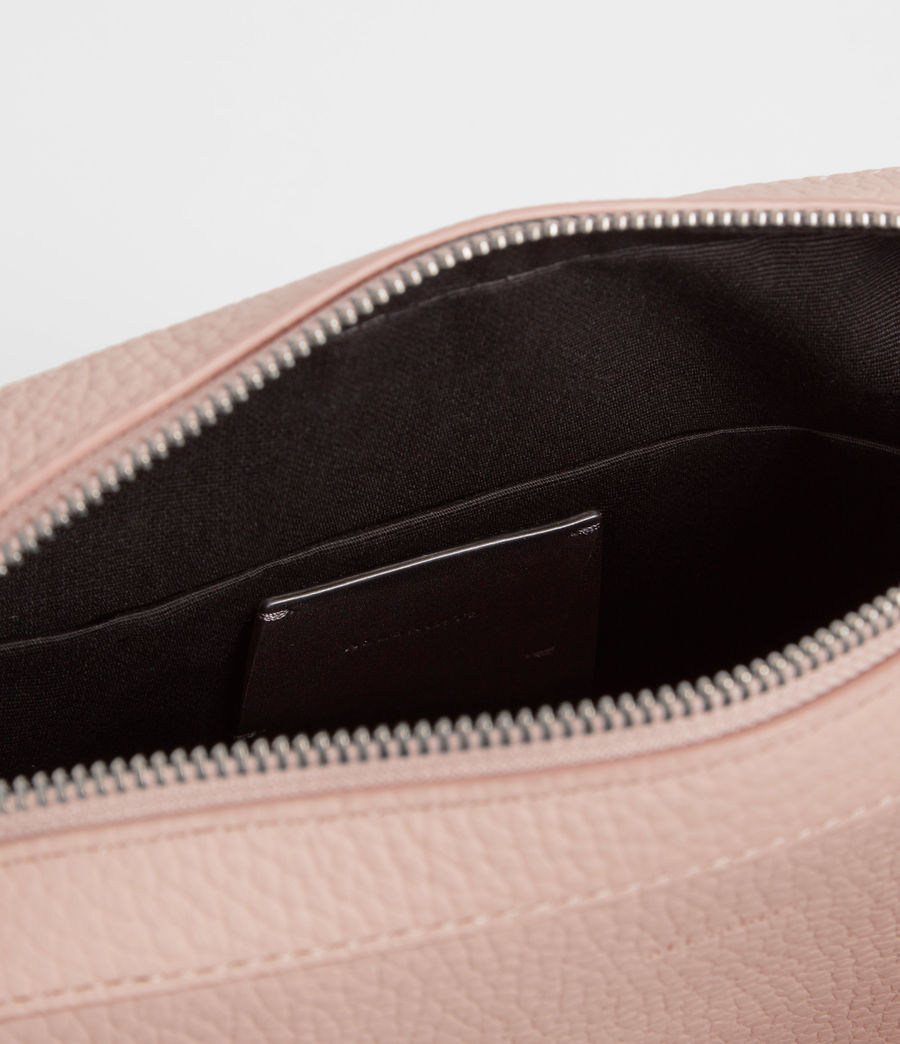 Women's Kepi Leather Crossbody Bag (peach_pink) - Image 4