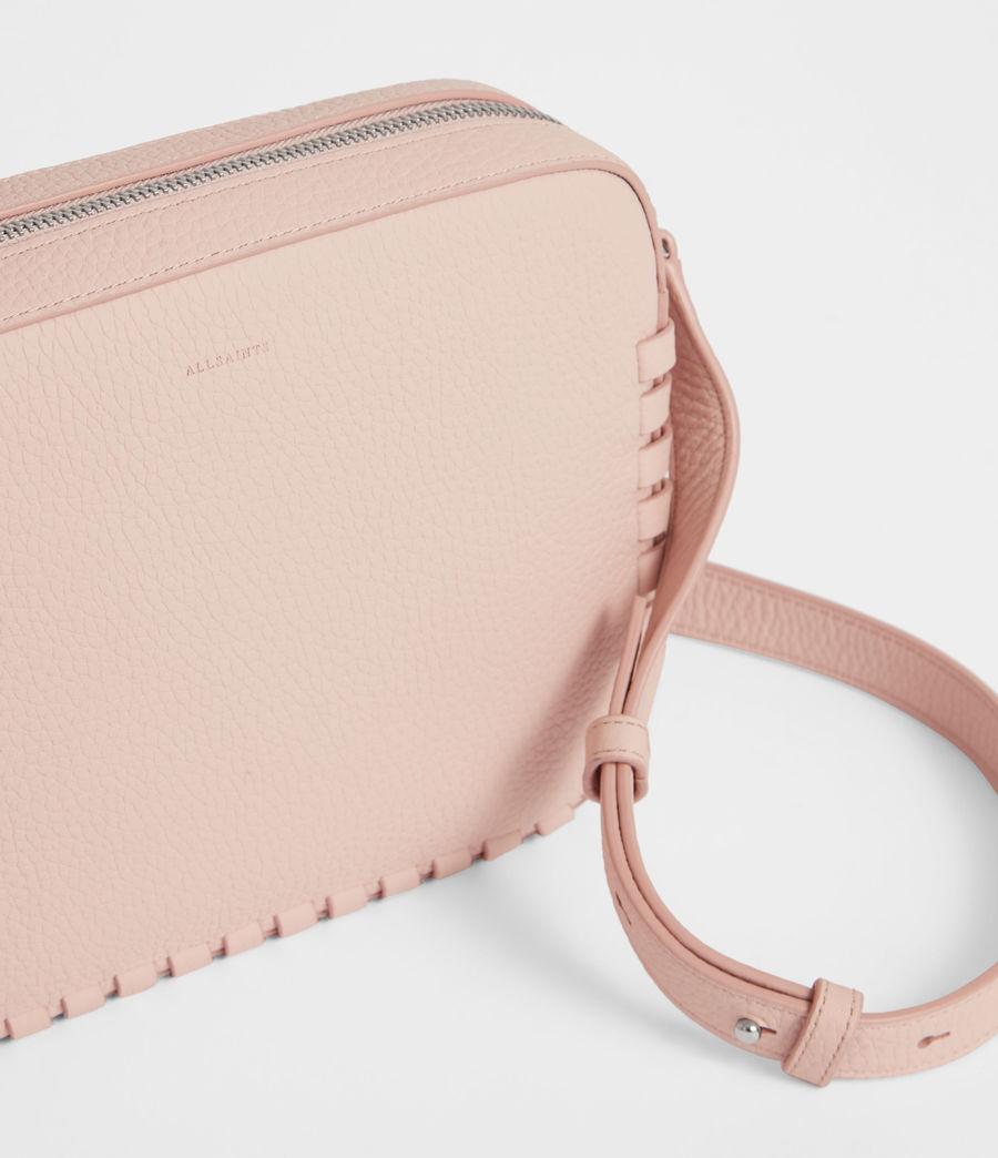 Women's Kepi Leather Crossbody Bag (peach_pink) - Image 5