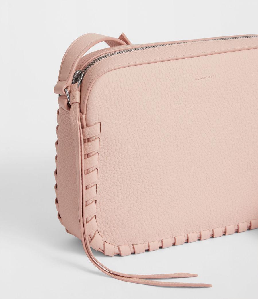 Women's Kepi Leather Crossbody Bag (peach_pink) - Image 6