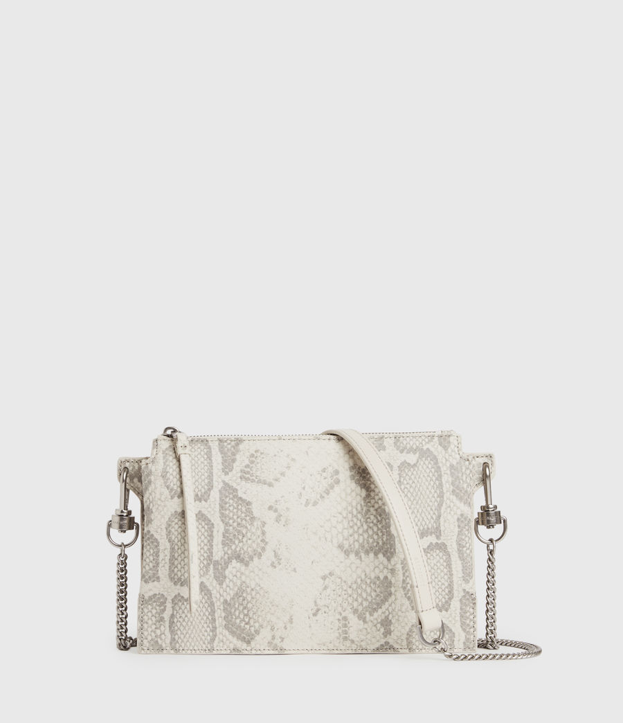 Women's Fletcher Snake Leather Crossbody Bag (chalk_white) - Image 1