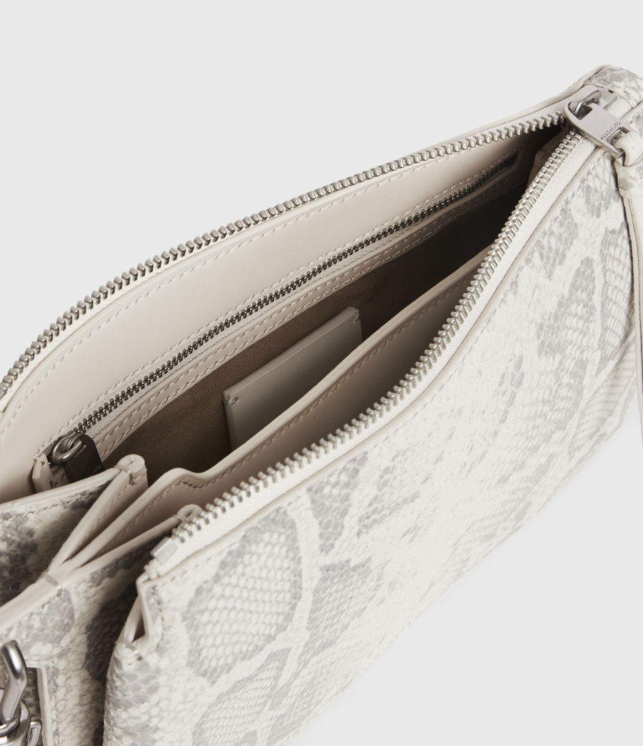 Women's Fletcher Snake Leather Crossbody Bag (chalk_white) - Image 2