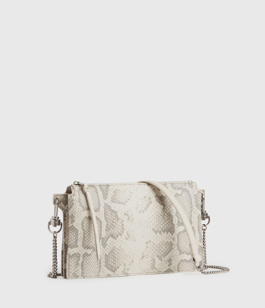 Women's Fletcher Snake Leather Crossbody Bag (chalk_white) - Image 3