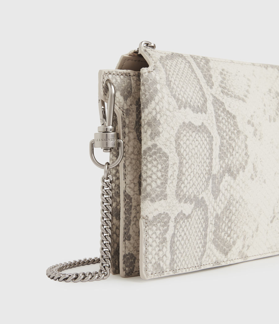 Women's Fletcher Snake Leather Crossbody Bag (chalk_white) - Image 4