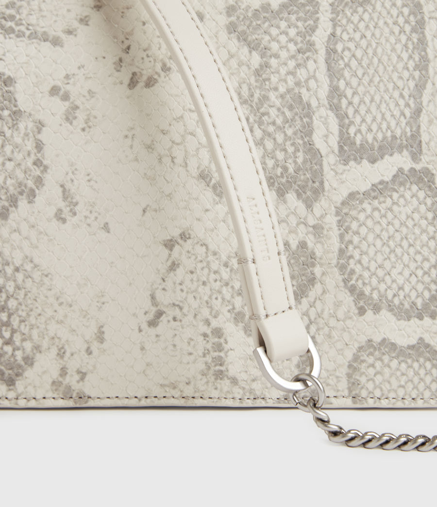 Women's Fletcher Snake Leather Crossbody Bag (chalk_white) - Image 5