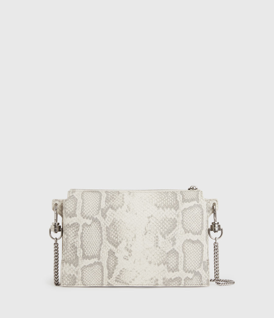 Women's Fletcher Snake Leather Crossbody Bag (chalk_white) - Image 6
