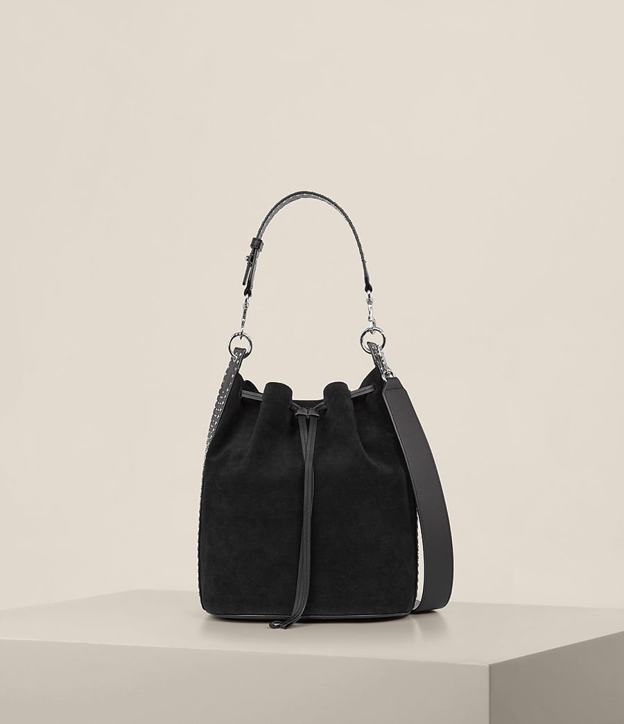 Womens Billie Bucket Bag (black) - Image 5