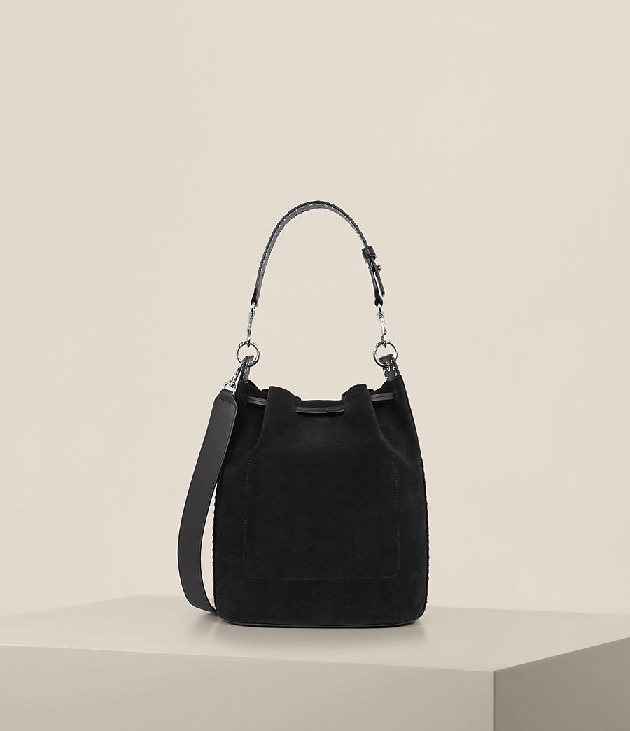 Womens Billie Bucket Bag (black) - Image 8