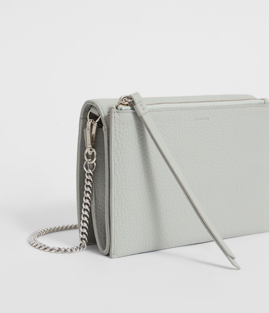 Women's Fetch Leather Chain Wallet Crossbody Bag (sky_blue) - Image 3