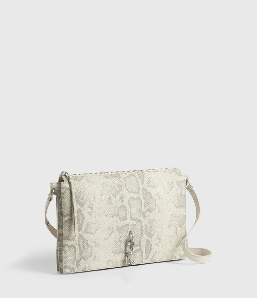 Women's Sheringham Leather Snake Shoulder Bag (chalk_white) - Image 1