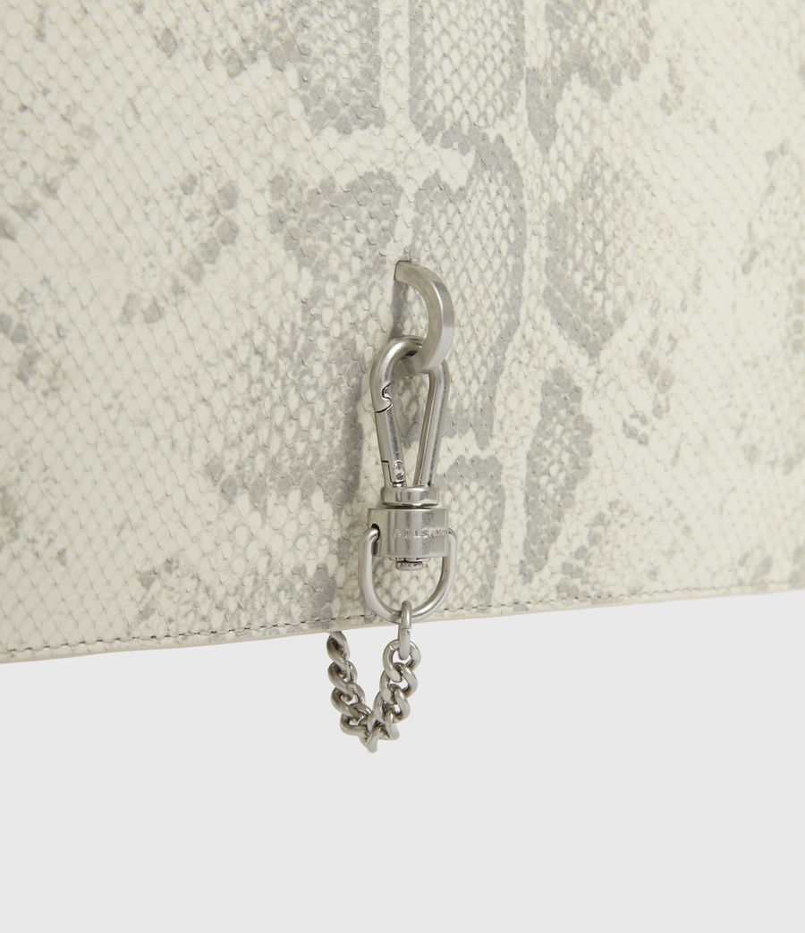 Women's Sheringham Leather Snake Shoulder Bag (chalk_white) - Image 2