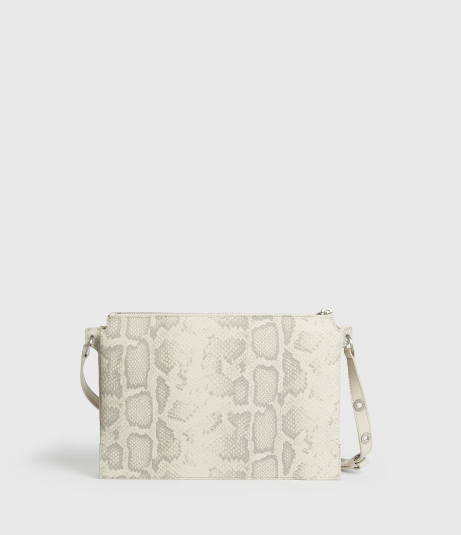Women's Sheringham Leather Snake Shoulder Bag (chalk_white) - Image 4
