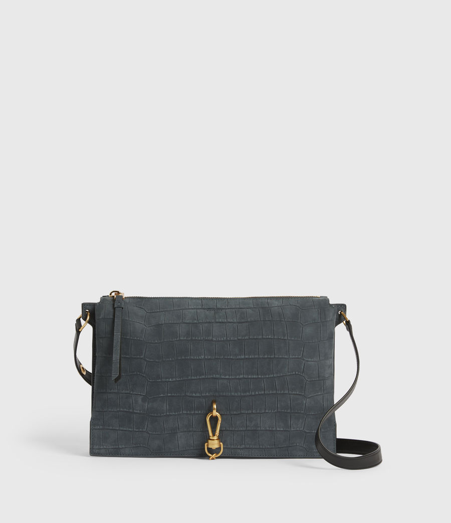 Mujer Sheringham Suede Shoulder Bag (petrol_blue) - Image 1