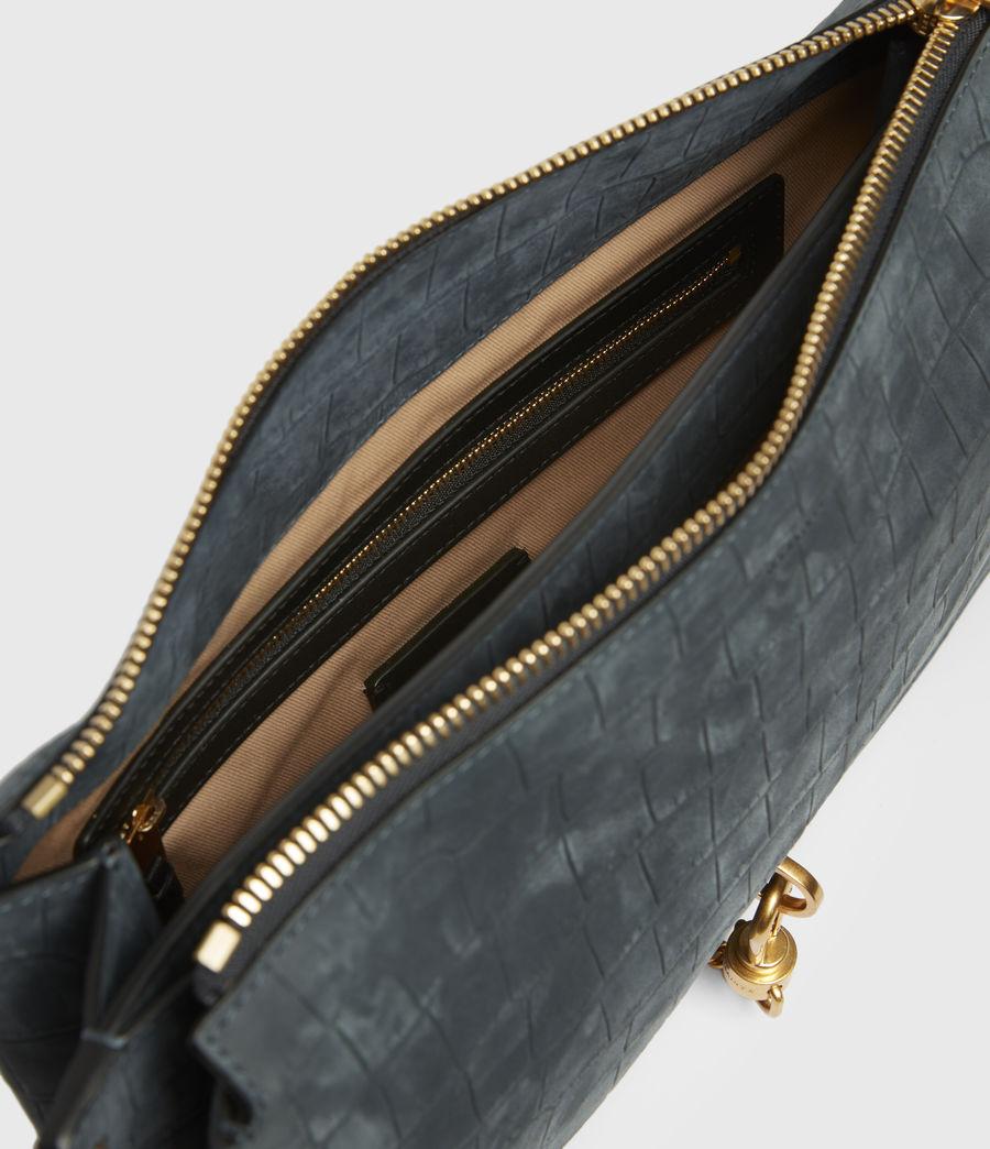 Mujer Sheringham Suede Shoulder Bag (petrol_blue) - Image 2