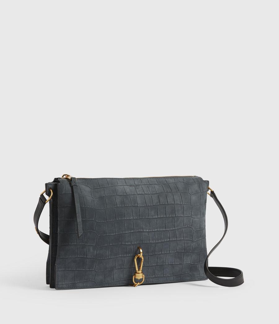Mujer Sheringham Suede Shoulder Bag (petrol_blue) - Image 3